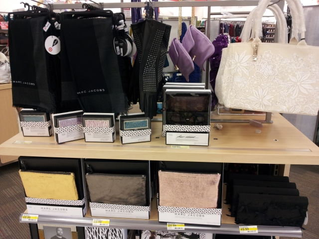 Marc Jacobs at Target. Yes, that zip top clutch is $69